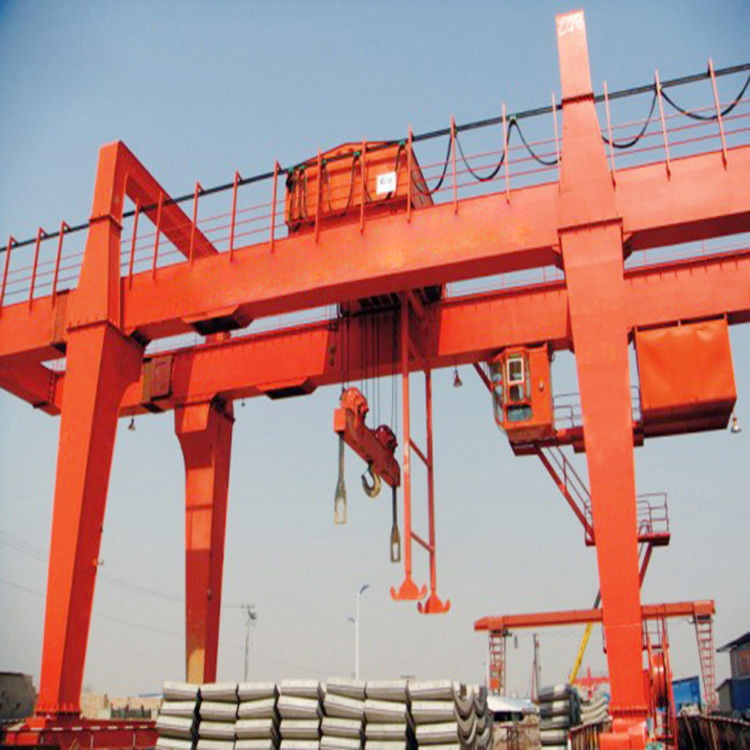 50t 80t Box Portal Gantry Crane Double Beam Stepless Speed Pendent Control supplier